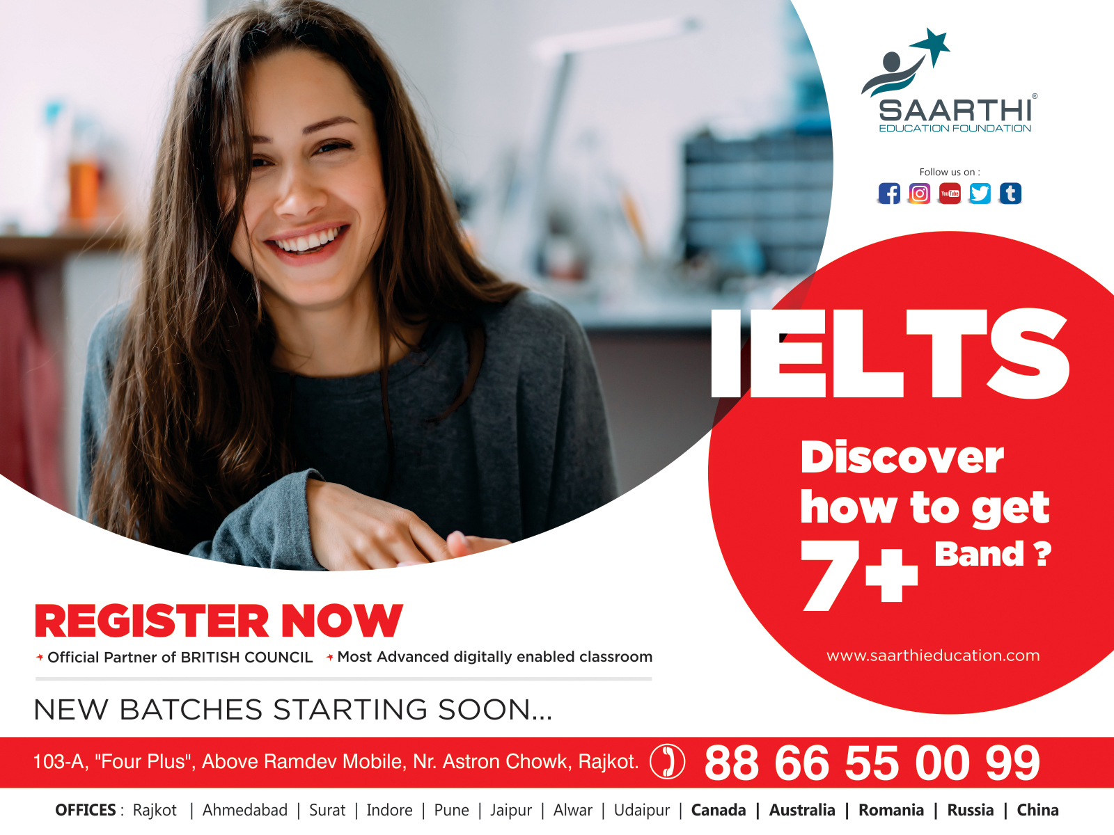 IELTS New Batches Starting Soon